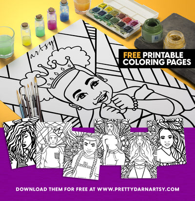 Get Creative with Artsy! Free Printable Coloring Book Pages