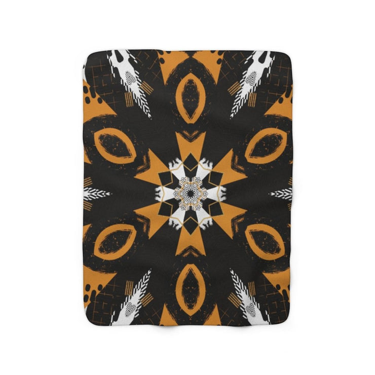 Abstraction Sherpa Fleece Blanket - 50 x 60 - Home Decor