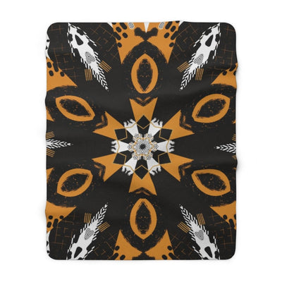 Abstraction Sherpa Fleece Blanket - 60 x 80 - Home Decor