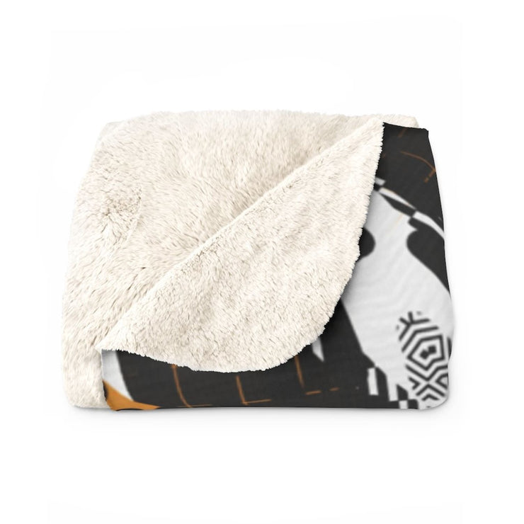 Abstraction Sherpa Fleece Blanket - Home Decor