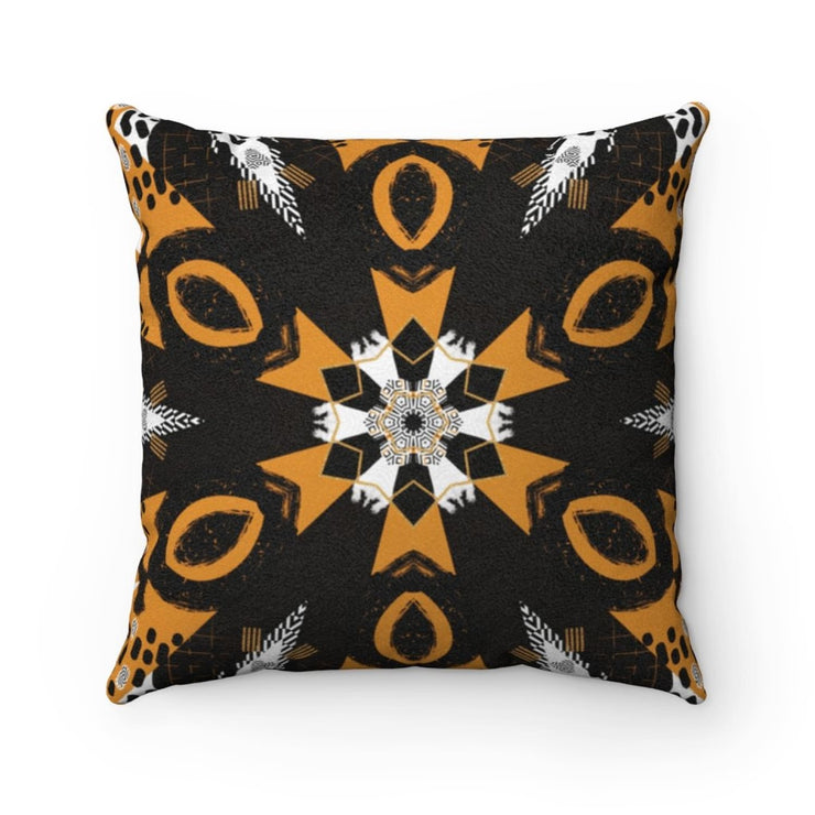 Abstraction Suede Square Pillow - Home Decor