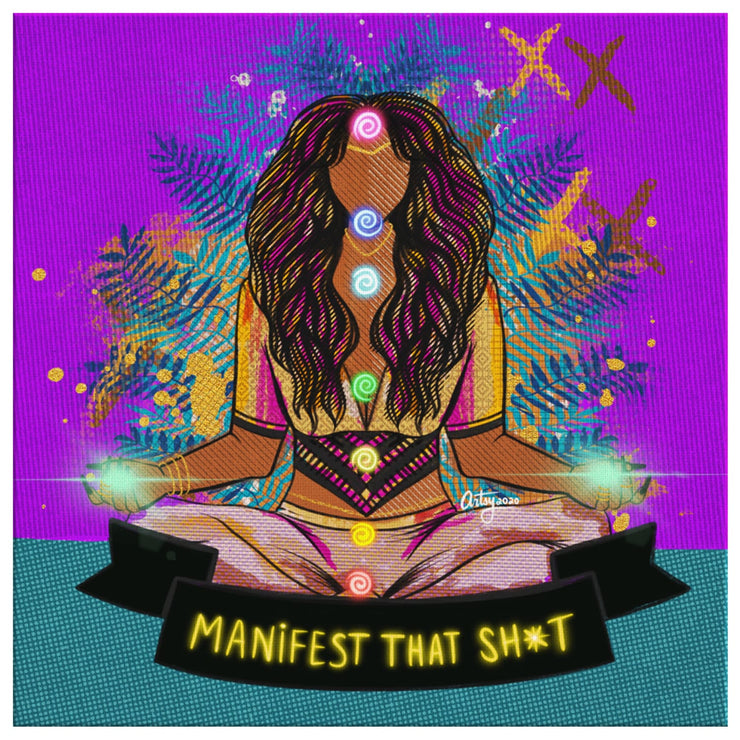 Manifest That Sh*t Canvas Print - 8 x 8 - Canvas Wall Art 2