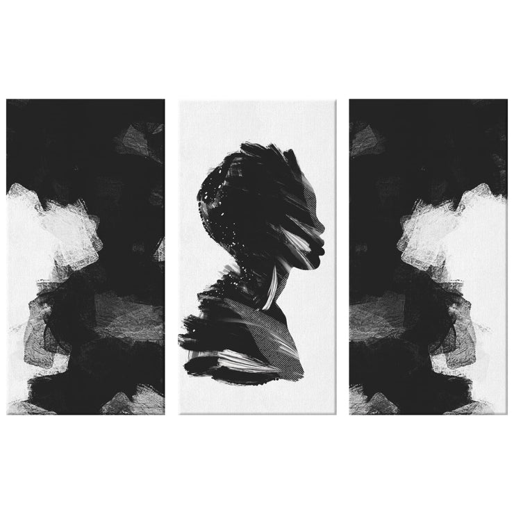 Obsidian Triptych Canvas Print - 36x24 (12x24 ea.) - Canvas Wall Art Set 3