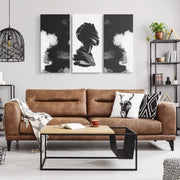 Obsidian Triptych Canvas Print - Canvas Wall Art Set 3