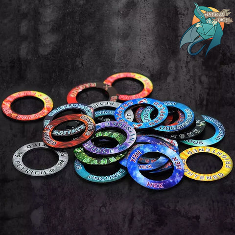 D&D Condition Effect Rings (48 PCS)
