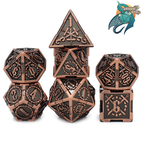 Fighter Metal (Bronze) Dice Set