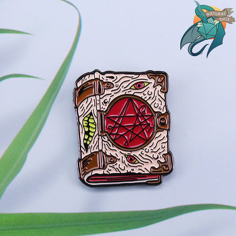 D&D Pin - Necronomicon Book