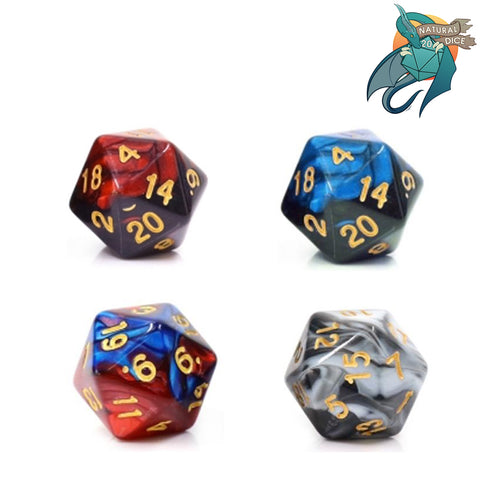 Pack of 4 - D20 DND Singles