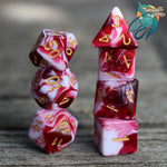 Strawberry Swirl Dice Set