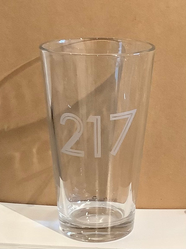 Custom Design Etched Pint Glass