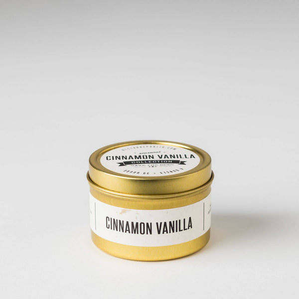 Cinnamon Vanilla : Travel Tin Candle