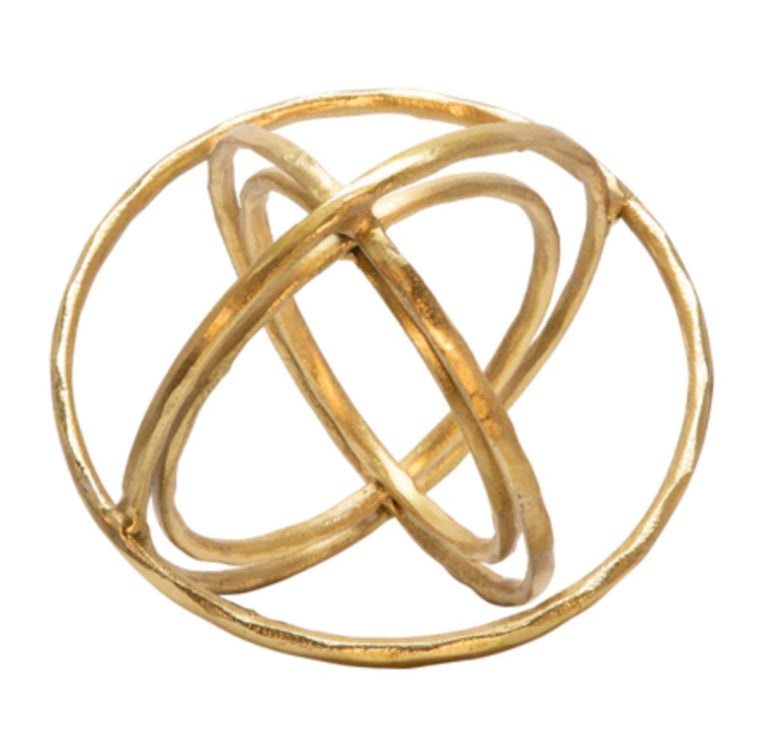 "METAL 11"" ARMILLARY ORB TABLE DECOR, GOLD"