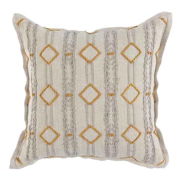 Bruno Gray/Turmeric Gold Pillow