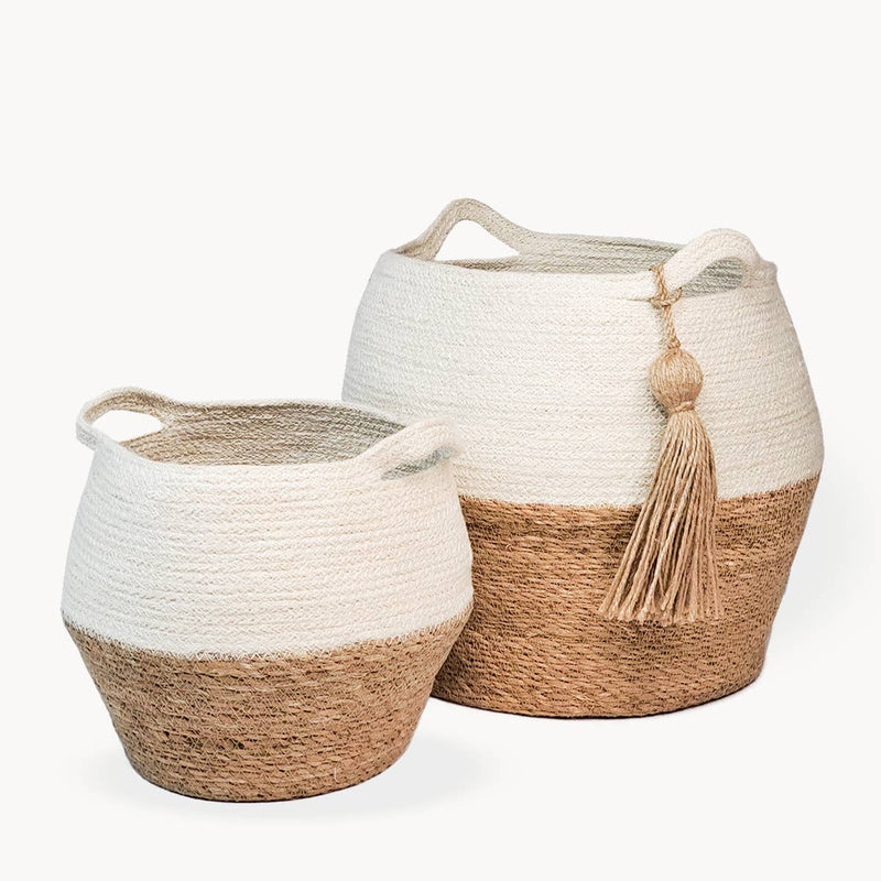 Agora Jar Basket - Natural (Set of 2)