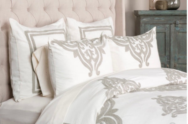 Patrina Ivory King Duvet Set