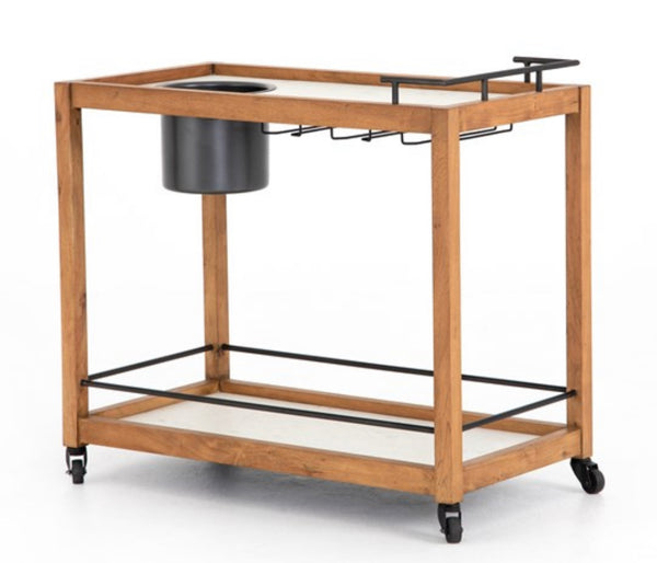 Oakley Bar Cart - Light Acacia