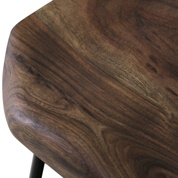 Sculpted Wood Counter Stool