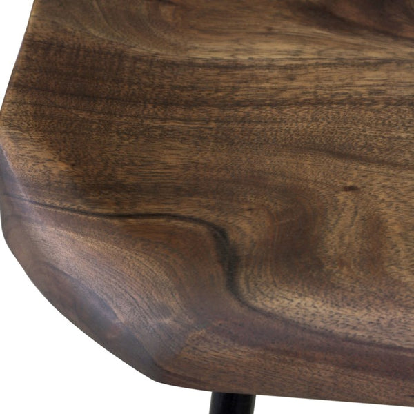 Sculpted Wood Bar Stool