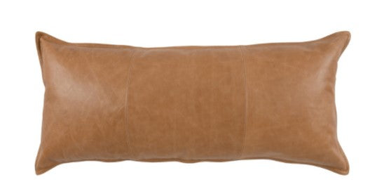 Leather Dumont Chestnut Pillow