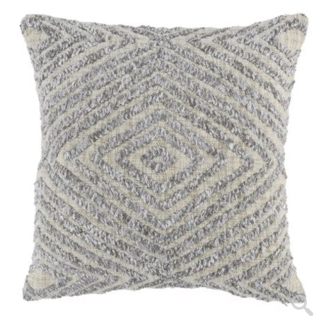 Omaira Gray Pillow