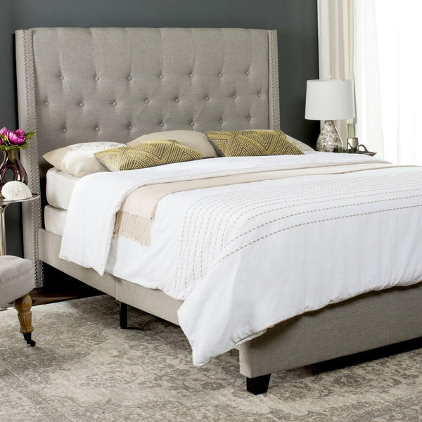 Winslet Queen Bed - Light Grey