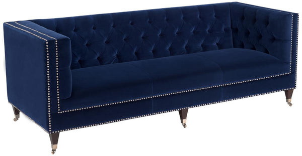 Miller Tufted Velvet Sofa - Navy