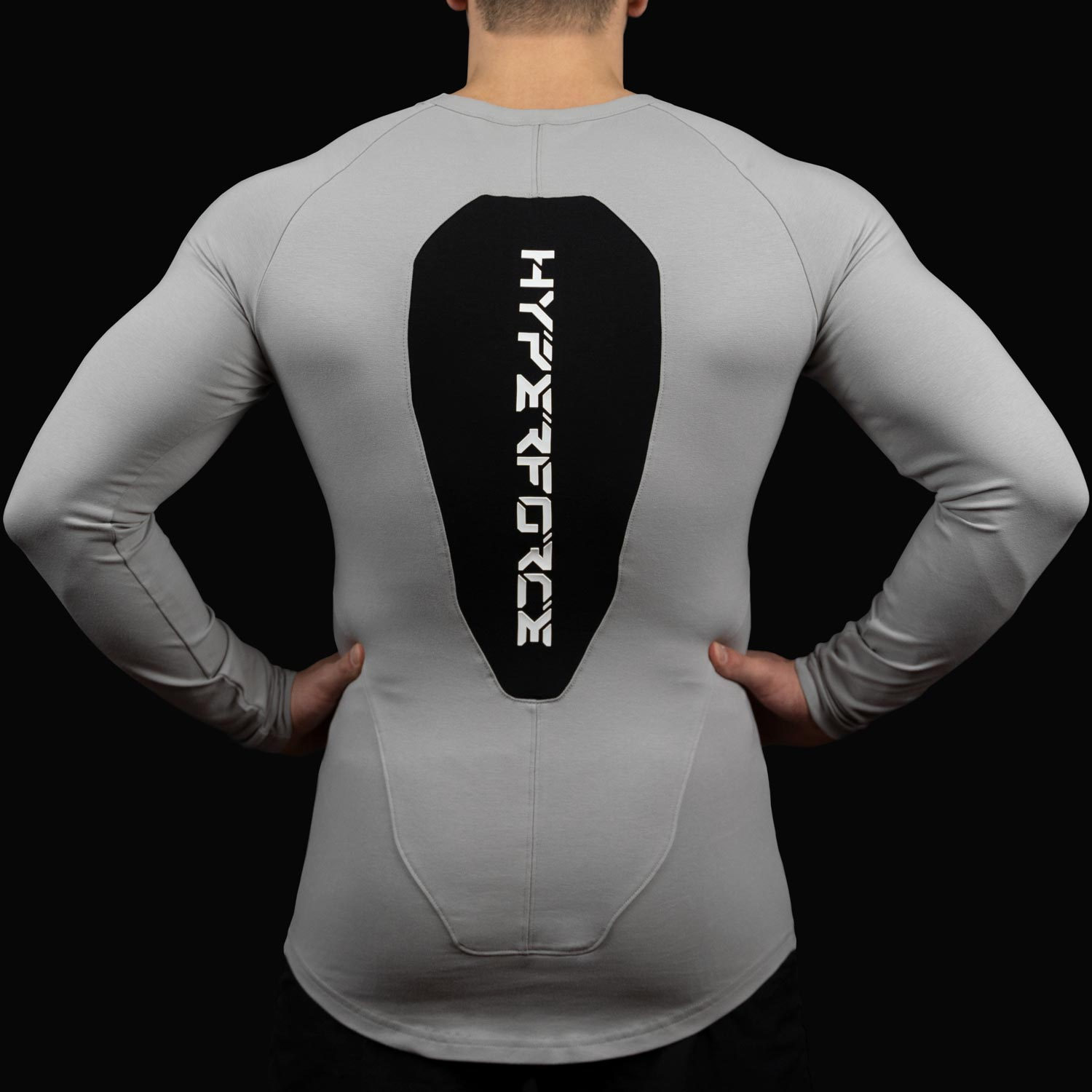 HYPERFORCE Apparel - Premium Muscle Fit Stretch Longsleeve for Men - Tight Fit - compression - Slim Fit - Tapered - aesthetic