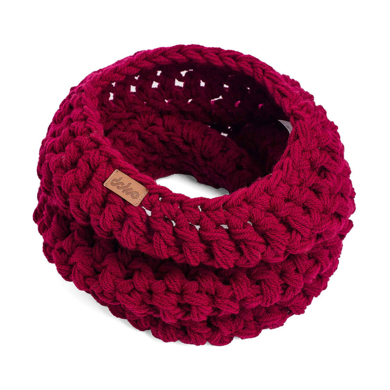 Crocheted Neck Warmer Bordo - richard-woox