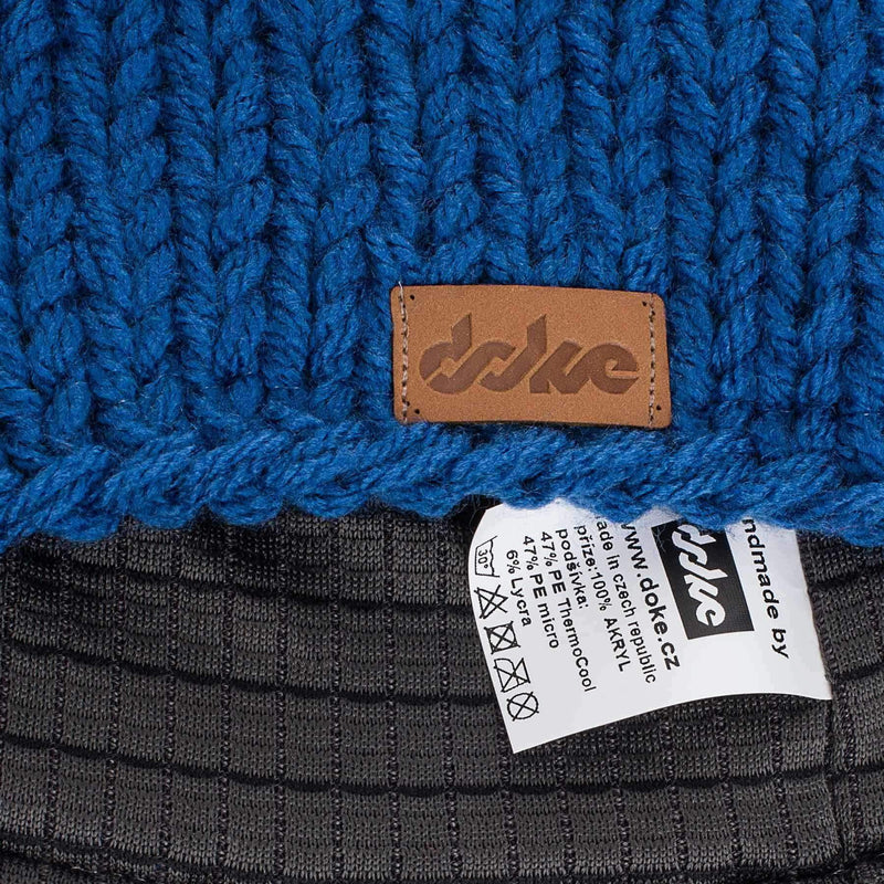 Knitted Beanie Kobalt - richard-woox