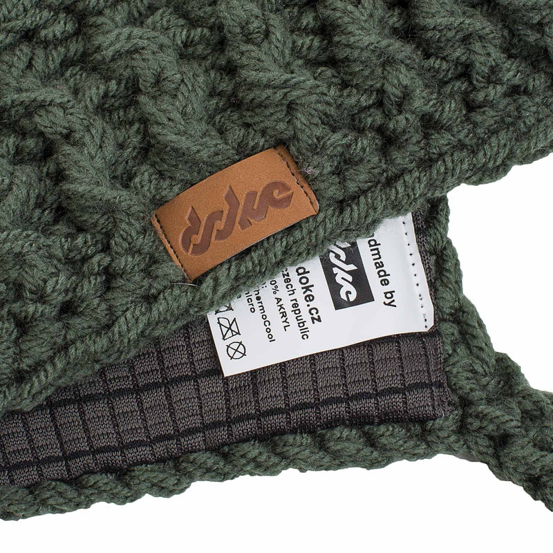 richard-woox.myshopify.com Crocheted Earlap beanie olive