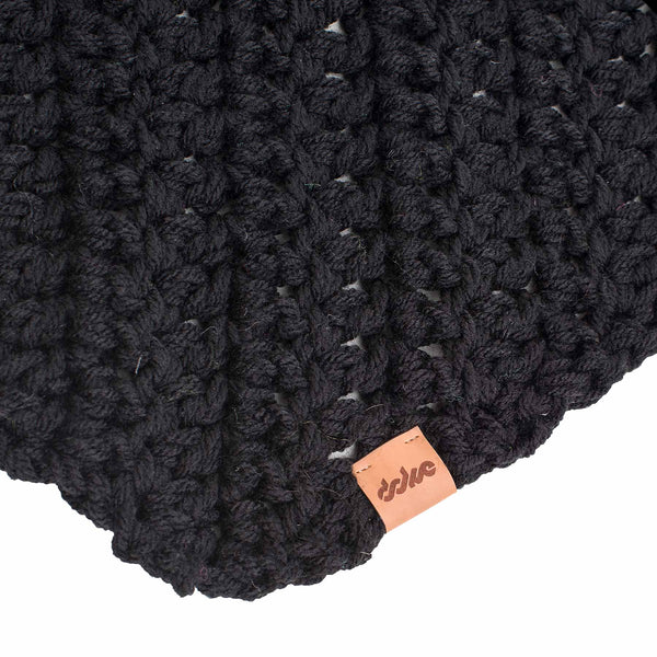 Crocheted scarf black - richard-woox