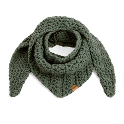 CROCHETED SCARF olive - richard-woox