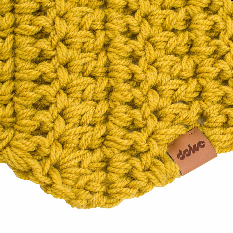 CROCHETED SCARF gold - richard-woox