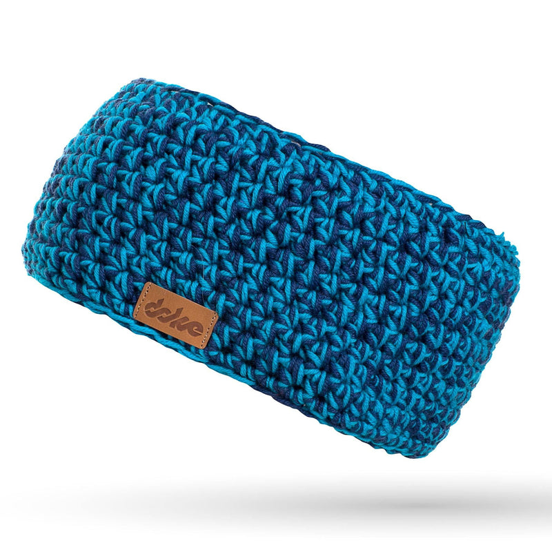 Merino crocheted headband blue mix - richard-woox
