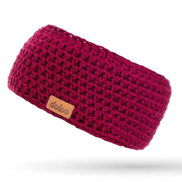 MERINO CROCHETED HEADBAND bordo - richard-woox