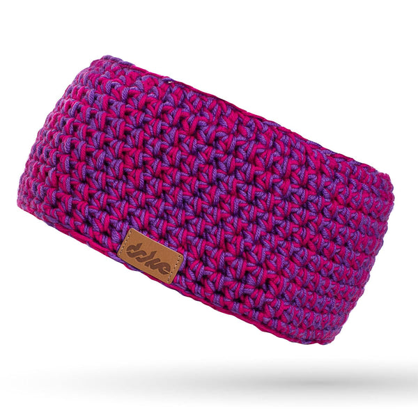 Merino crocheted headband pink mix - richard-woox