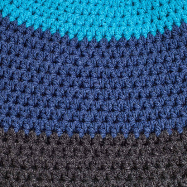 MERINO CROCHETED BEANIE BLUE striped - richard-woox