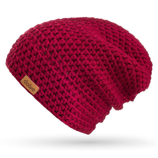 richard-woox.myshopify.com MERINO CROCHETED BEANIE bordo