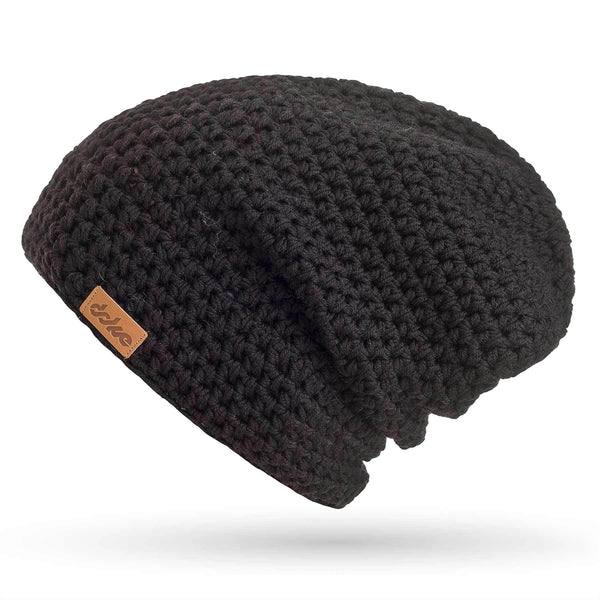 MERINO CROCHETED BEANIE carbon - richard-woox