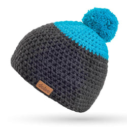 MERINO CROCHETED POM BEANIE ANTRACIT - richard-woox