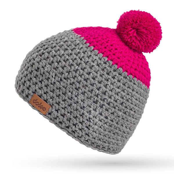 MERINO CROCHETED POM BEANIE MEDIUM - richard-woox