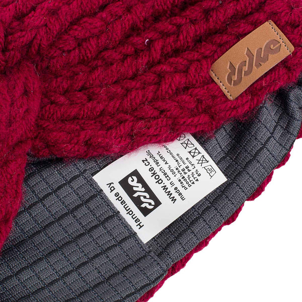 KNITTED HEADBAND bordo - richard-woox