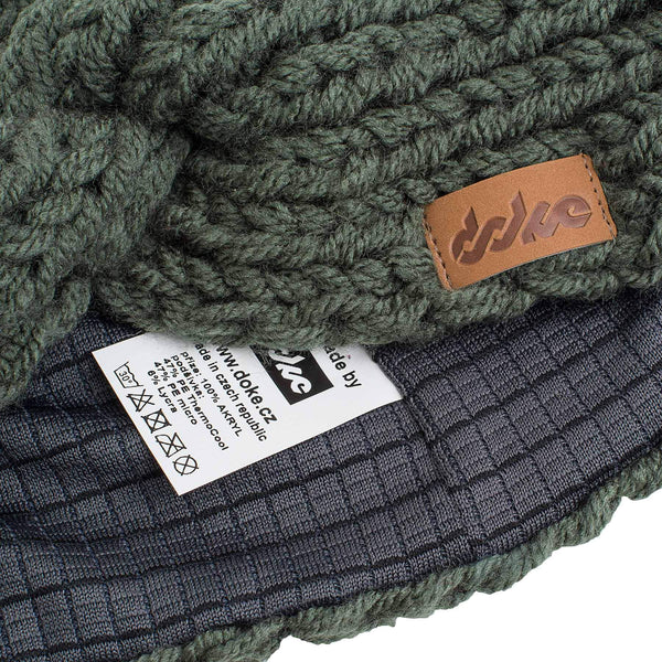 KNITTED HEADBAND olive - richard-woox