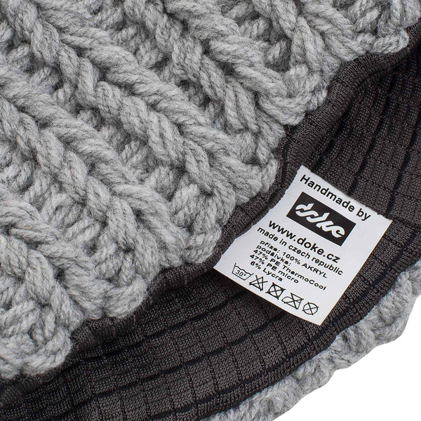 KNITTED BEANIE grey - richard-woox