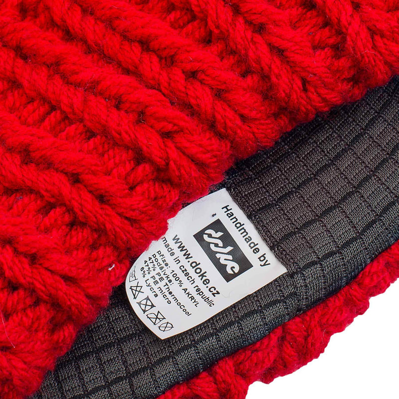 KNITTED BEANIE red - richard-woox