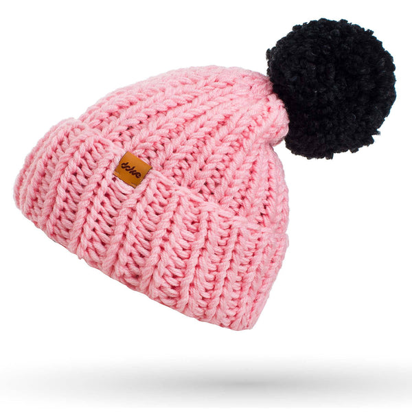 knitted beanie rose - richard-woox