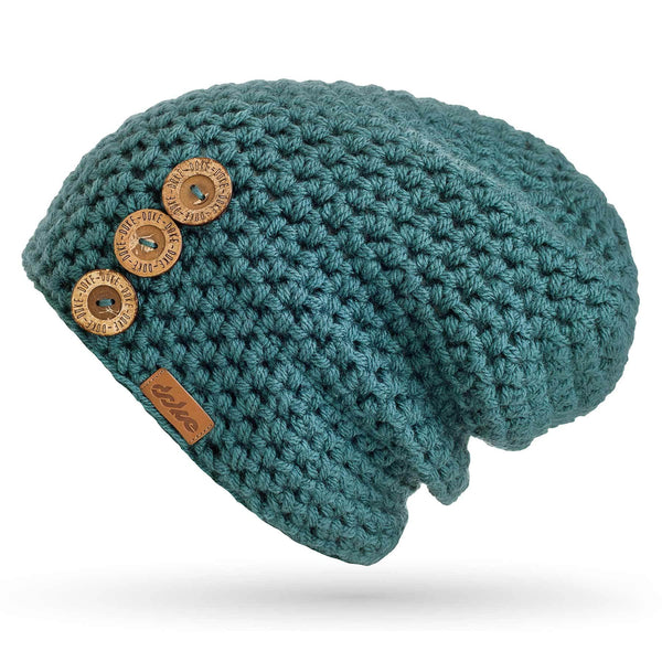 CROCHETED BEANIE B NATURE pine - richard-woox