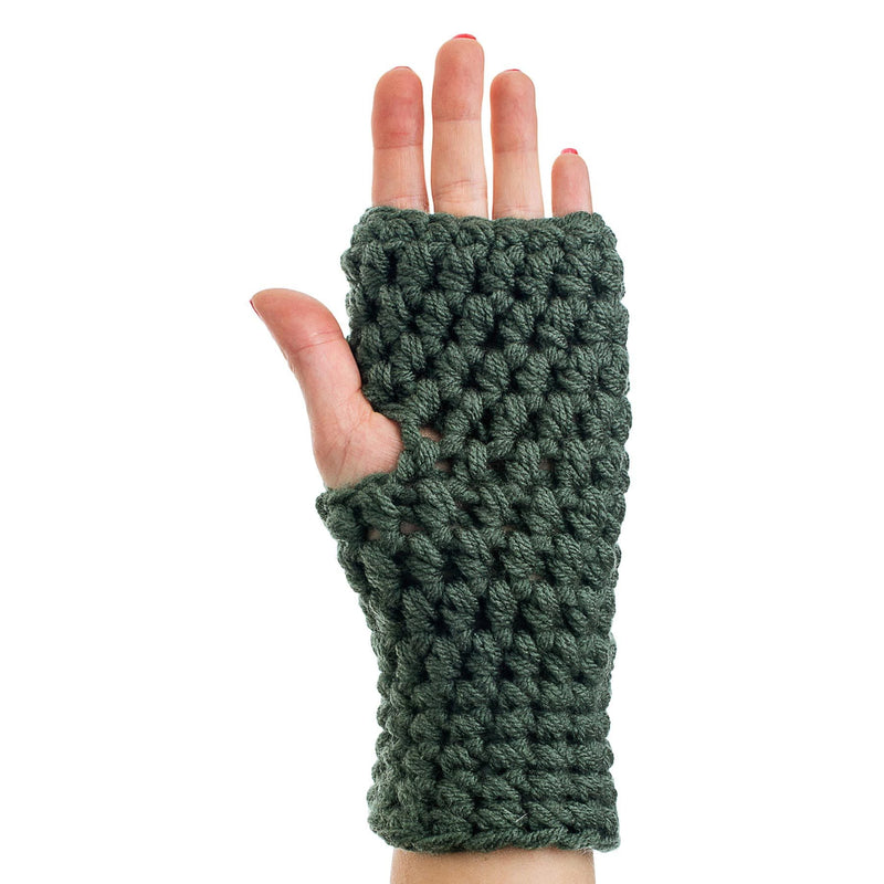 Crocheted Hand Warmer Olive - richard-woox