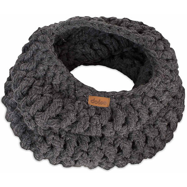 Crocheted Neck Warmer Dark - richard-woox