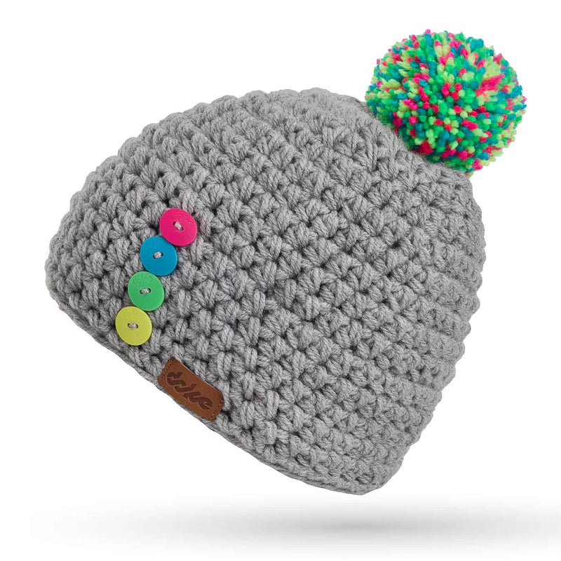 richard-woox.myshopify.com CHILDREN'S CROCHETED POM BEANIE BC light short
